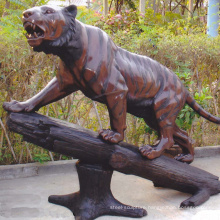 theme park sculpture metal craft bronze tiger statue for sale